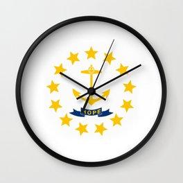 Rhode Island State Flag Wall Clock