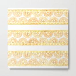 Gold Lace Metal Print