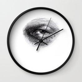 Eye Study Sketch 4 Wall Clock