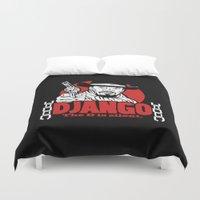 django Duvet Covers featuring Django logo v2 by Buby87