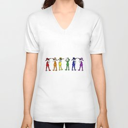 Rainbow Spy Party Unisex V-Neck