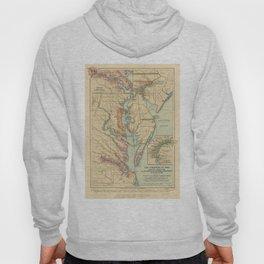 Vintage Virginia and Maryland Colonies Map (1905) Hoody