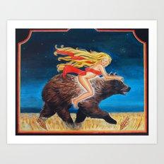 Bear Rider Art Print