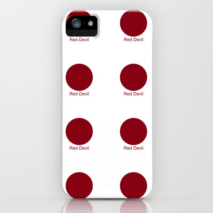 Red Devil iPhone Case