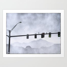 Leaving the City Art Print