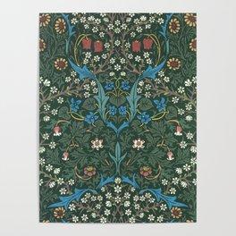 William Morris Blackthorn Wallpaper Block Print Pattern, 1892 Poster