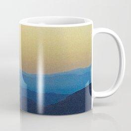Dreamy Mountain Range | Serene Calm Blue Ocean Ombre Daydream Sunset over the California Hills Coffee Mug