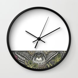 Falcon on clover Wall Clock