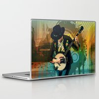 banjo Laptop & iPad Skins featuring Banjo Man by Bedros Awak