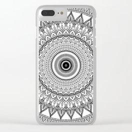 black and white mandala Clear iPhone Case