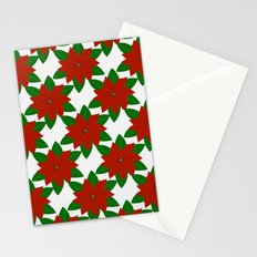 C13D Poinsettia Stationery Cards