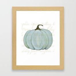 Cozy Fall things  Framed Art Print