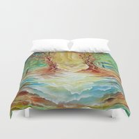alice wonderland Duvet Covers featuring Wonderland by Lily Nava Gallery Fine Art and Design