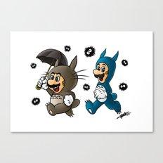 Super Totoro Bros. Canvas Print