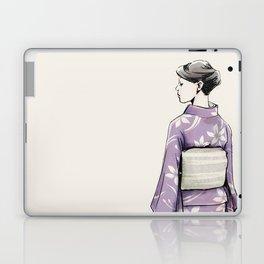 すみれ色の着物 Laptop & iPad Skin