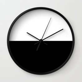 Abstract Black and White Horizon Color Block Wall Clock