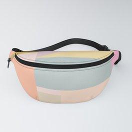 Pastel Geometric Graphic Design Fanny Pack