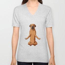 Funny Tosa Inu Meditate Dog  Unisex V-Neck