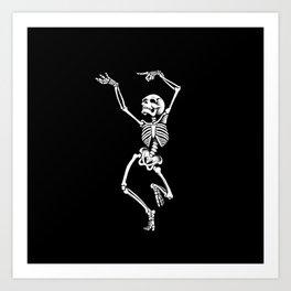 Dancing Skelleton Art Print