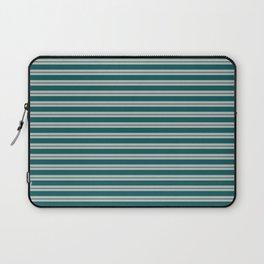 BM 2019 Trending Color Beau Green 2054-20 & COY 2019 Metropolitan Double Bold Horizontal Stripes Laptop Sleeve