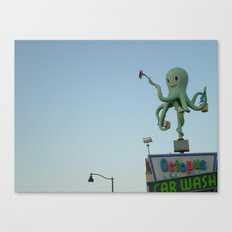 Octopus Carwash Canvas Print