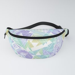 Abstract ethnic pattern in pastel colors. Fanny Pack