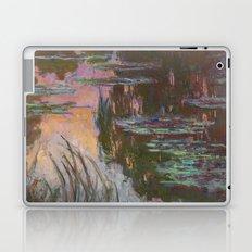 Water Lilies - Setting Sun by Claude Monet Laptop & iPad Skin