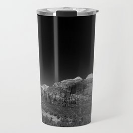 Zion Park View in B&W Travel Mug
