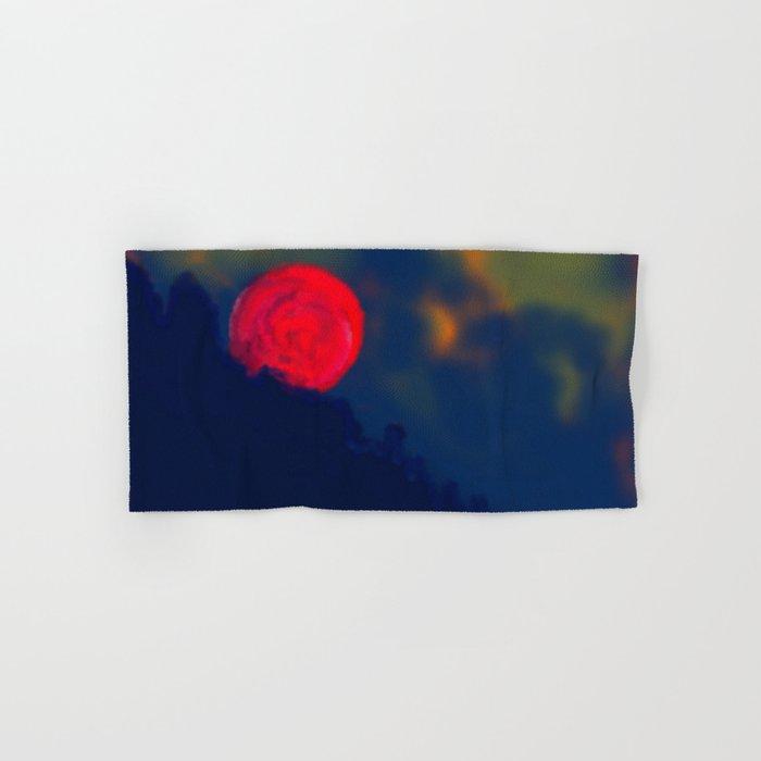 Red Moon Hand & Bath Towel
