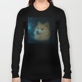 shibe doge in space Long Sleeve T-shirt