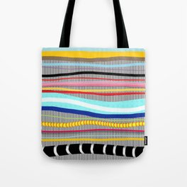 Bold stripes,breezy and beautiful,Striped Contemporary world's cute fashion Tote Bag
