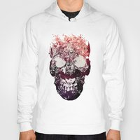 skull Hoodies featuring SKULL by Ali GULEC