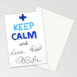 Keep Calm And Doctor On Stationery Cards