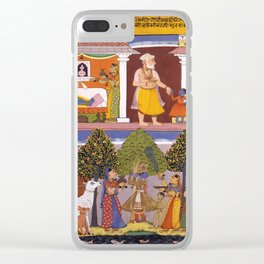 Scenes from the Childhood Krishna, from a Sur Sagar Manuscript Clear iPhone Case