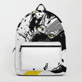 Frontal Impact Crash Test; Illustration; Art print; Wall Decor Backpack