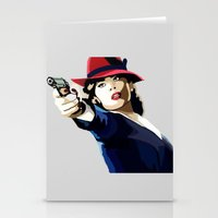 agent carter Stationery Cards featuring AGENT CARTER Reporting for Duty by Danielle Aragon