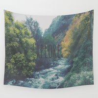 explore Wall Tapestries featuring Explore by Hannah Kemp