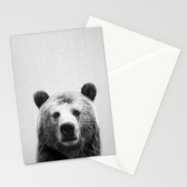 Bear - Black & White Stationery Cards