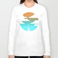 sail Long Sleeve T-shirts featuring Go West (sail away in my boat) by Picomodi