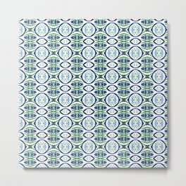 Bubbles in Blue and Green Metal Print