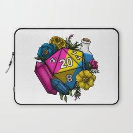 Pride Pansexual D20 Tabletop RPG Gaming Dice Laptop Sleeve