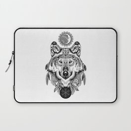 Bohemian Celestial Wolf Laptop Sleeve