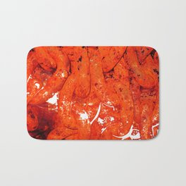 Red Abstract Art - Linked - By Sharon Cummings Bath Mat