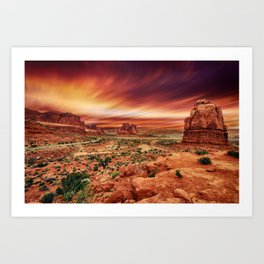 Arches at Sunset Art Print