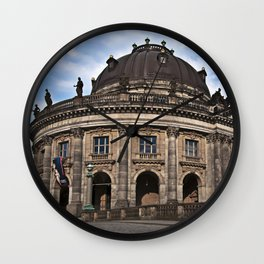 Bode Museum with cloud drama Wall Clock