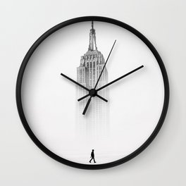 Alone with Empire State Building by GEN Z Wall Clock