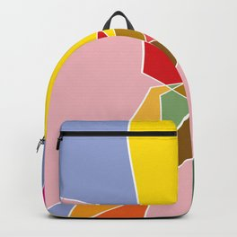 abstract in floral colors Backpack