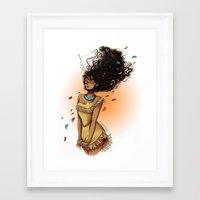 pocahontas Framed Art Prints featuring Pocahontas by C. Cassandra
