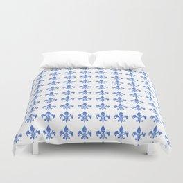 French Blue fleur di li Duvet Cover