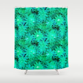 Woodruff in Blue & Green - IA Shower Curtain